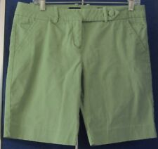 EUc Pretty SHORTS by THE LIMITED Drew FIT Green Sz 10 Dropped WAIST Cotton&Spand
