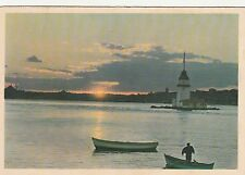 TURKEY, ISTANBUL, LEANDER'S TOWER AT SUNSET, A MINT PC, 1965