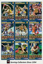 2007 AFL Teamcoach Blue Platinum Trading Card Team Set Hawthorn (12)