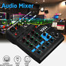 Sound Audio Mixer 4 Channels Stereo Party USB bluetooth Mixing DJ Console KTV