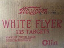 Vintage Western WHITE FLYER Clay Pigeons Skeet Targets YELLOW 75ct