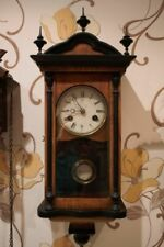 Antique German Working JUNGHANS  Wind Up Pendulum WALL CLOCK w/ CHIMES