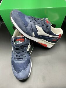 New Diadora Heritage N9000 H Mesh Italia Insignia Blue Made In Italy Size 8