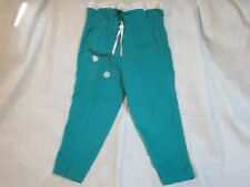 Turquoise Corduroy Pants with Pink Roses and White Lace Cara Lynn Girl's Size 4