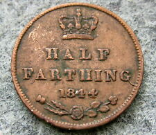 GREAT BRITAIN QUEEN VICTORIA 1844 HALF FARTHING, COPPER