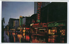 St Catherine Street At Night Montreal Canada postcard