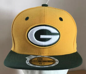 Green Bay Packers Fitted Cap Hat Kids Youth 6 1/2 New Era 59fifty NFL NEW