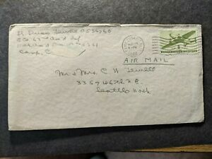 APO 261 CAMP COOKE, CALIF 1944 WWII Army Cover 63rd ARMORED INFANTRY Officer