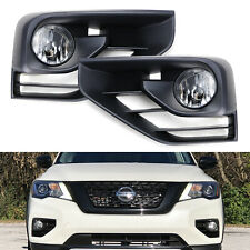 OE-Spec H11 Halogen Bulb Fog Lights w/ Bezels, Wires For 17-20 Nissan Pathfinder