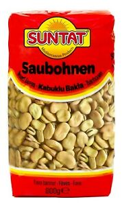 800g Suntat Saubohnen Bakla Kuru Broad Bean Fèves Bohnen Hülsenfrüchte