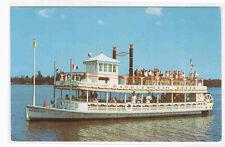 Paddle Wheel Steamer Queen West Palm Beach Florida postcard