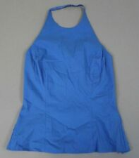 Express Women's Strappy Backless High Neck Halter Top SI4 Blue Size 3/4 NWT