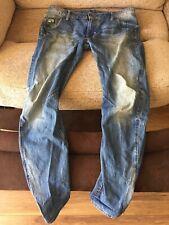 G-Star - Jeans - Size 34W 32L - Mid Blue denim Wash - 3D - Tapered