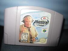 Madden NFL 2000 (Nintendo 64, 1999)CART ONLY