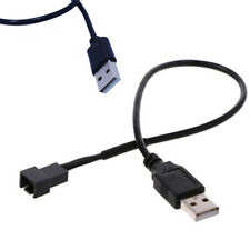 Black usb 2.0A male to 4-pin connector adapter cable for 5v computer pc fan ZUZY