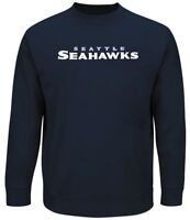 Seattle Seahawks NFL Mens Majestic Poly Fleece Sweatshirt Big & Tall Sizes