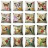 VINTAGE BUTTERFLY FLOWER HOME DECOR SOFA CUSHION COVER THROW PILLOW CASE SMART