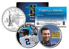 DEREK JETER 2-Coin Set *Rookie of the Year & World Series MVP* NY State Quarters