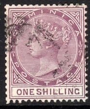 More details for dominica 1886 magenta 1/- crown ca perf 14 used sg26