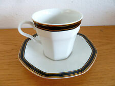 Black Dress China by Christopher Stuart  Wht Blk Gold  Cup/Saucer Set  1