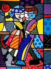 "Romero Britto      ""Cheek to Cheek""   Print     BA  MAKE  OFFER"