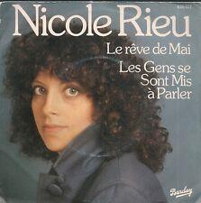 """45 TOURS / 7""""--NICOLE RIEU--LES ENFANTS DE MAI / LES GENS SE SONT MIS A PARLER"""