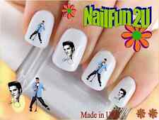 "RTG Set#539 CHARACTER ""Elvis 3 Blue Jacket"" WaterSlide Decals Nail Art Transfers"