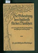 Die Bedeutung der Spätreife für den Menschen Dr. W. Blendinger 1930 Tierzucht