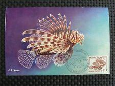 MONACO MK 1960 RASCASSE LIONSFISH FEUERFISCH MAXIMUMKARTE MAXIMUM CARD MC c1122