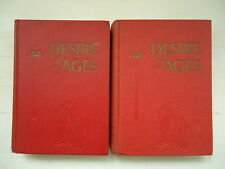 DESIRE OF AGES VOLUME ONE AND TWO HB RELIGION 1945 AUSTRALIAN EDITIONS