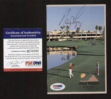 Nancy Lopez signed autograph PGA West Scorecard PSA