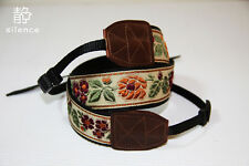 Handmade Vintage Rose camera strap Neck strap for DSLR Camera