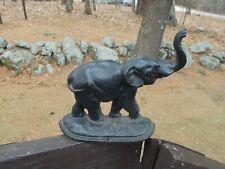 Vintage Cast Iron Elephant Doorstop
