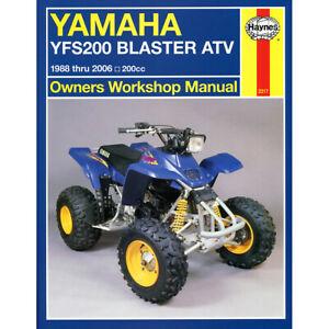 Yamaha YFS200 Haynes Manual 1988-2006 Blaster ATV 200cc Workshop Manual