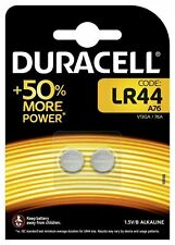 Duracell 2 Lr 44 Batteries (2 Pcs) Free Shipping! General Use Alkaline Cell