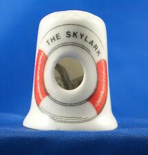 Birchcroft China Thimble -- Peephole -- Seagull in Lifebouy -- Free Dome Box
