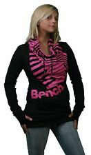 Bench UK Barcode Overhead Black Pink Sweater L Large Shirt