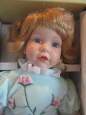 "Seymour Mann Connoisseur Collection doll; POLLY, BLONDE HAIR BLUE EYES 14"""