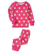NWT Crazy 8 by Gymboree 2pc Gymmies Pajamas PJ's Sz: 5 Pink Green polka dot