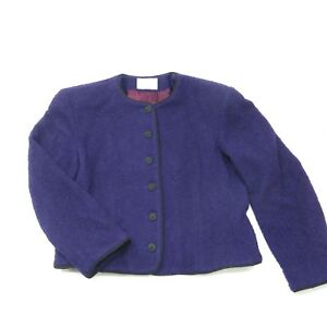 Vintage Classic Lord And Taylor Private Editions Purple Sweater Jacket Sz L