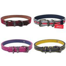 Rosewood Joules Dog Collars Leather, Navy, Pink, Tweed, Striped