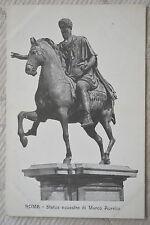 "CPA "" ROMA - Statua equestre di Marco Aurelio"