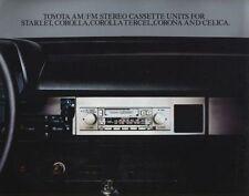 1981 TOYOTA STEREO CASSETTE RADIO BROCHURE -CELICA-COROLLA-STARLET-TERCEL-CORONA