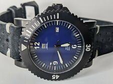Navis Aqvantis Lugano Black Case Blue Dial Watch Swiss SW200 Automatic
