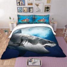 3D Sea Animal Shark Quilt Cover Bedding Set Pillow Cases Comforter/Doona Cover