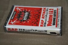 Vintage 1985 SEALED Rap Attack Cassette Tape 22 Breakin & Poppin Hits