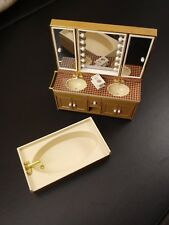 Vintage Tomy Smaller Home and Garden Dollhouse Furniture Bathroom Vanity