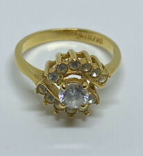 Zirconia Ring (Size 8) Vintage Faux Gold-Plated(.75 ct.) Cubic