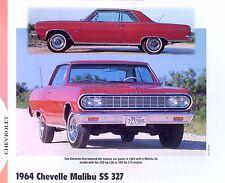 1964 Chevrolet Chevelle Malibu SS 327 ci L30 L74 info/specs/photo/prices 11x8