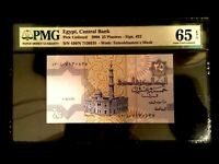 Egypt 25 Piastres 2008 Banknote World Paper Money UNC Currency - PMG Certified